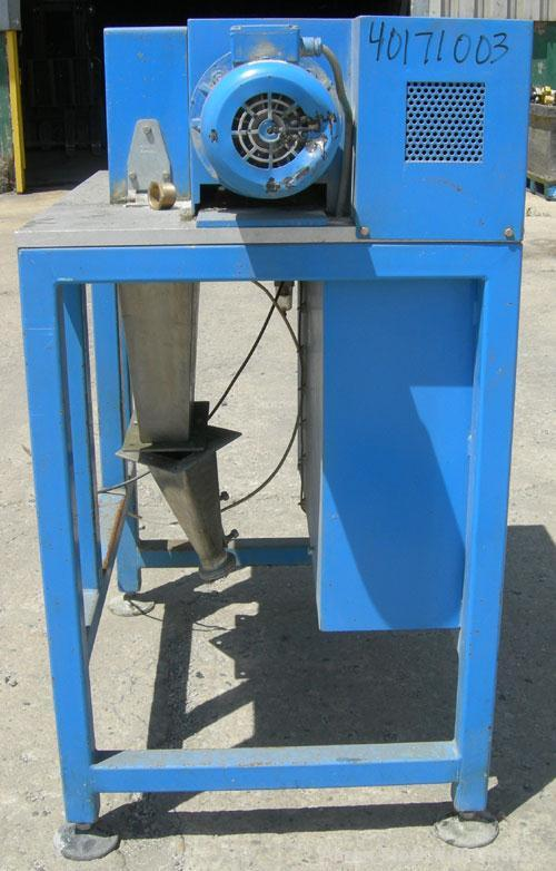 "Used- Accrapak Systems model 750/2 micro strand pelletizer.  Approximate 12"" diameter rotor x 3 1/2"" wide 120 knife helical ..."