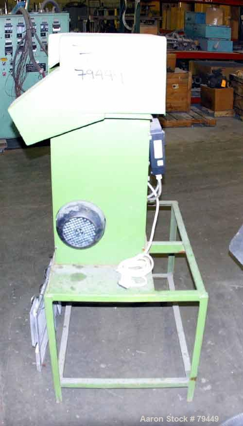 """USED: Pelletizer 3"""" wide, 8 blade rotor. (1) metal, (1) rubber pull roll. Driven by an approximate 3 kw motor with Cheetah d..."""