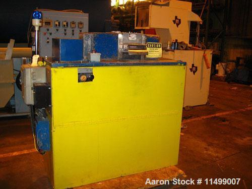 """Used-6"""" Conair Pelletizer, Model 206.  One rubber pull roll, one rubber steel roll, 32 blade helical rotor, 5 hp rotor motor..."""