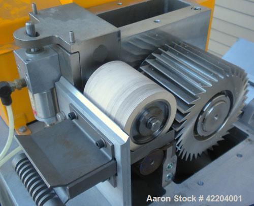 "Used- Conair Jetro Pelletizer, Model 304. Approximate 4"" diameter x 4"" wide 36 blade helical rotor. (1) Rubber, (1) metal pn..."