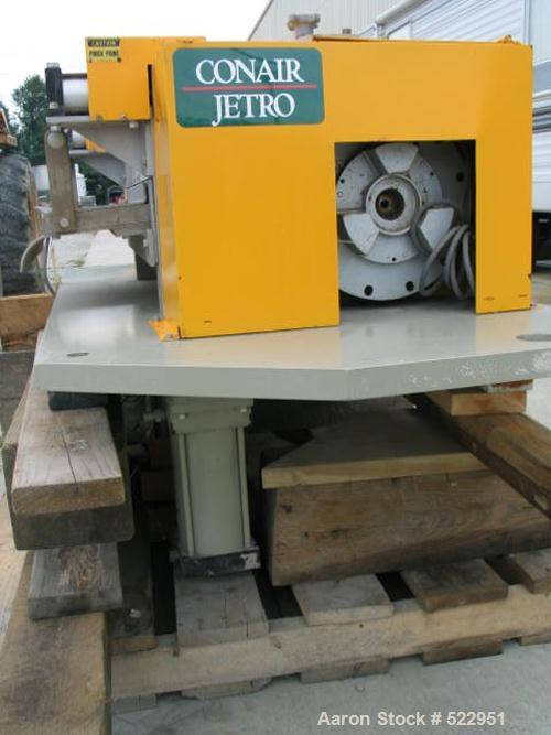"""Used-UNUSED: Conair Jetro cutter. 12"""" diameter x 24"""" long cutting wheelwith approximately 60 cutting blades. All stainless s..."""