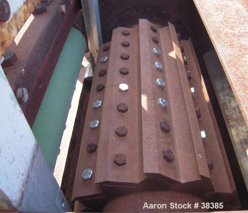 "Used- Cumberland 14"" Strand Type Pelletizer, Size 14. 12 bolt on knife rotor. Rotor and pull rolls are driven by an approxim..."