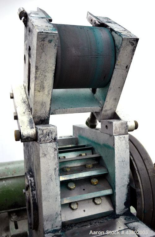 """Used- Cumberland Size 4 Pelletizer.  4"""" Wide x 8"""" diameter 16 bolt-on blade rotor, (1) rubber, (1) metal pull roll.  Driven ..."""