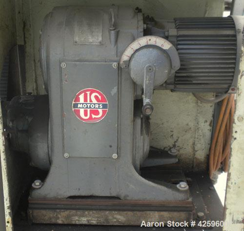 """Used- Cumberland Pelletizer, Size 6. Approximate 6"""" diameter x 6-1/2"""" wide 8 bolt- on blade rotor. Approximate 4"""" diameter p..."""