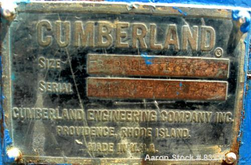 USED: Cumberland pelletizer,