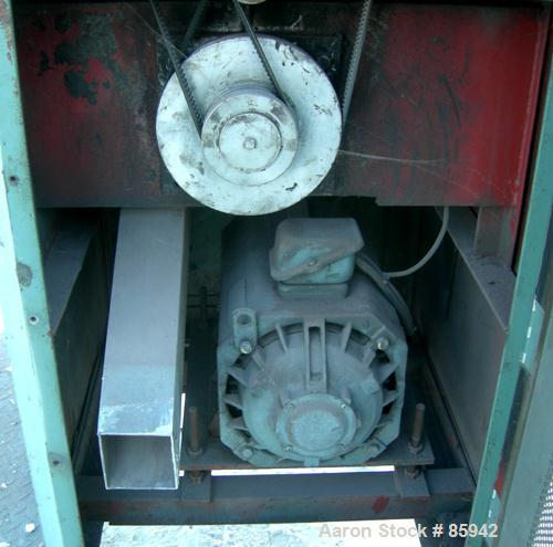 """Used- Cutter Pelletizer, Model H2. 8"""" wide 26 blade rotor, (1) rubber and (1) metal pull roll. Driven by a 5.5 KW (7.38 HP) ..."""