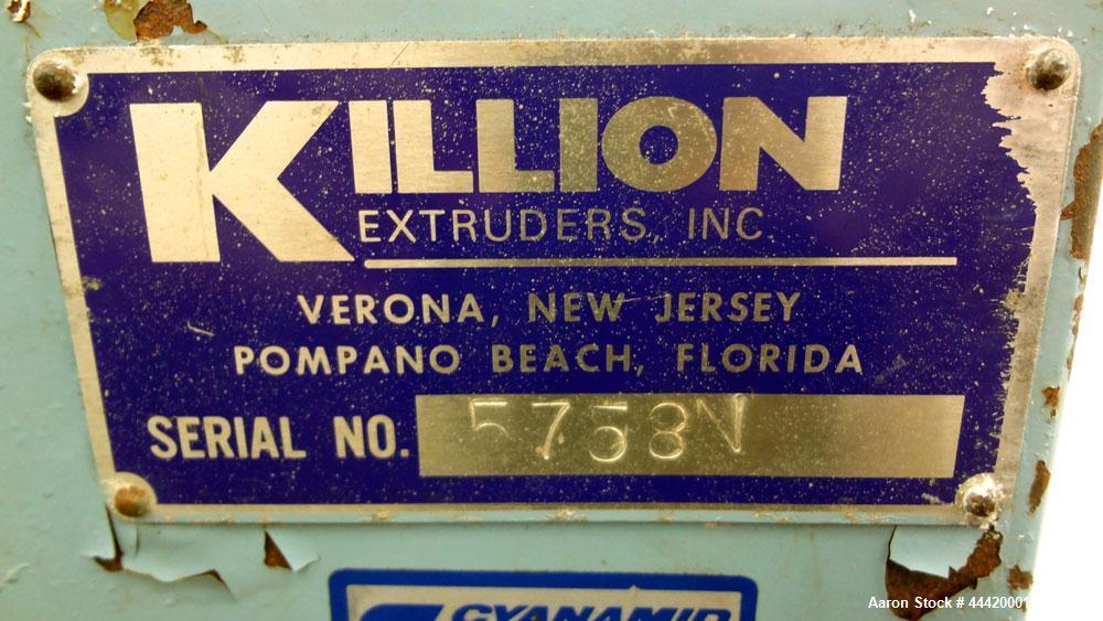 "Used- Killion Pelletizer, Model 2"""
