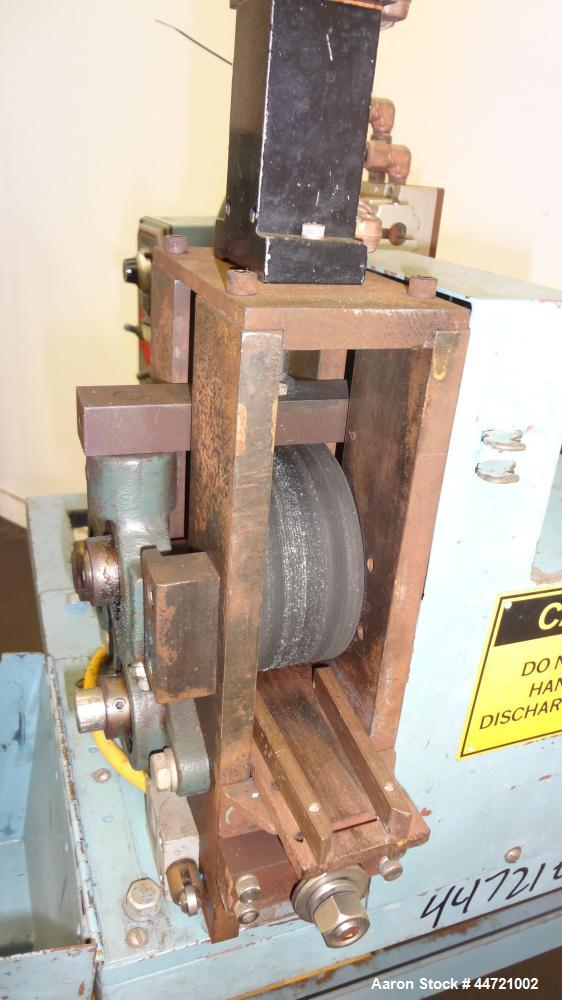 """Used- Killion Pelletizer, Model 2"""". Approximately 2"""" wide 20 blade helical rotor.  (1) Rubber, (1) metal pneumatically adjus..."""