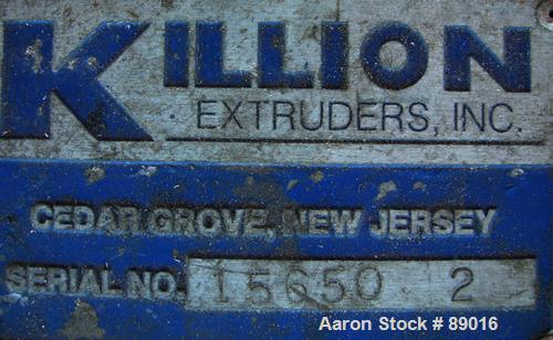 "USED: Killion strand pelletizer, model 4""Pell. Approximate 4"" diameter x 4"" wide 20 blade helical rotor. (1) Rubber, (1) met..."