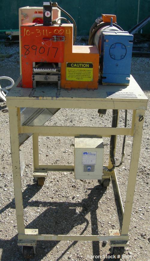"USED: Killion strand pelletizer, model 4""Pell. Approximate 4"" diameter x 4"" wide 20 blade helical rotor. (1) Rubber, (1) met..."