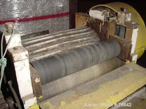 """Used- Pelletizer, 7"""" Diameter x 16"""" Wide (20) Fixed Knife Rotor. 2 Manually adjustable pull rolls, 1 rubber, 1 metal. Bottom..."""