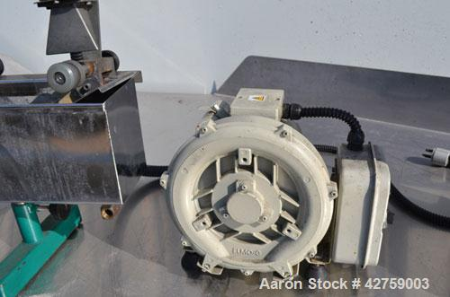 Used- Prism Pelletizer. Approximately 3/4'' wide x 2'' diameter rotor. Includes a Prism stainless steel water bath, 4-3/4'' ...