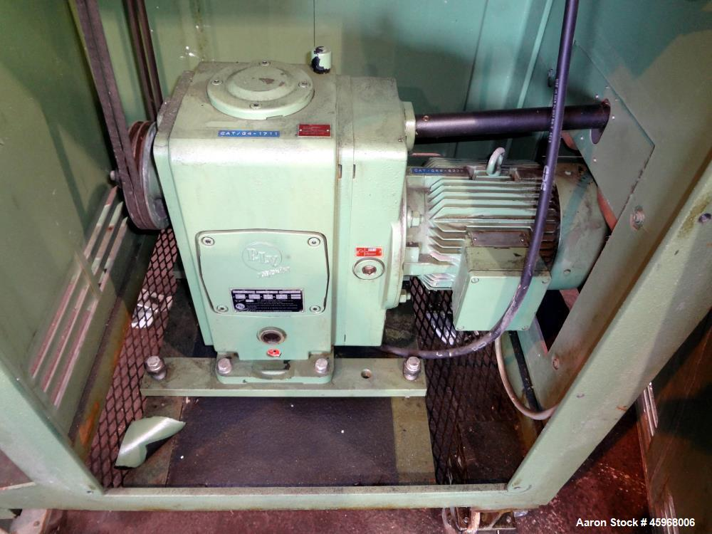 """Used- Automatik Strand Pellitizer, Model ASG 10. 4-1/4"""" wide rotor 434 stainless steel. Driven by approximate 3 hp (2.2kW), ..."""