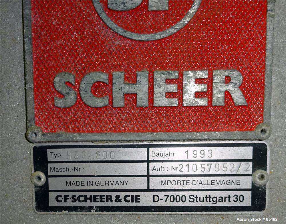 Used- S. F. Scheer Strand Pelletizer, Model HSG800