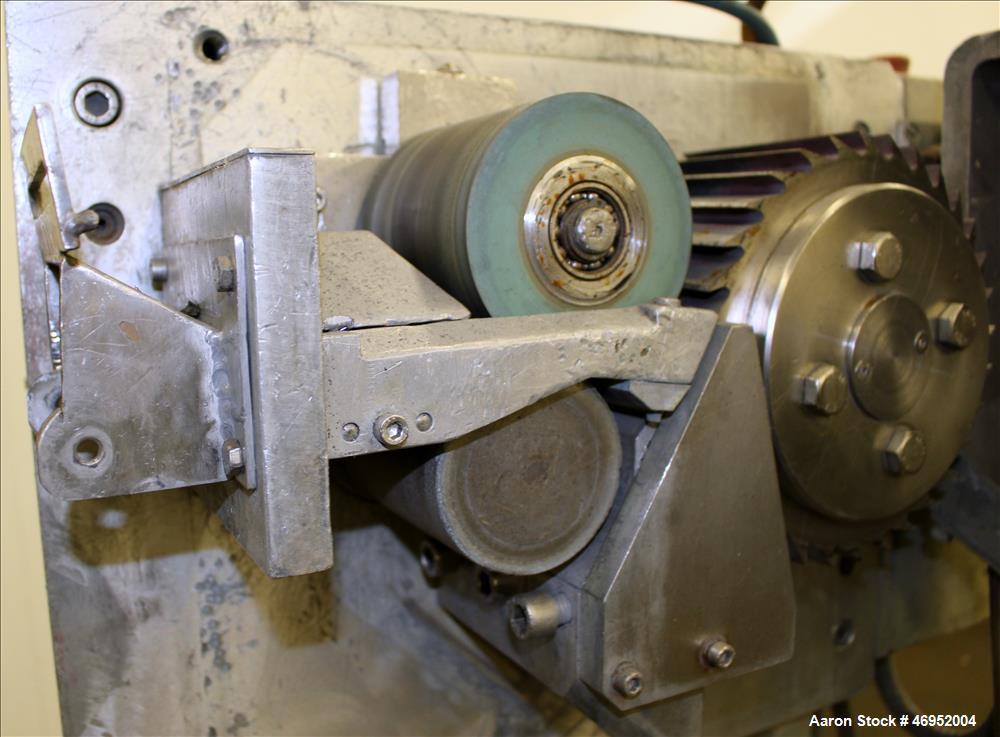 "Used- Scheer Pelletizer, Model SGS 100-E. 100mm (3.93"") Wide x 200mm (7.87"") diameter (32) fixed blade rotor. (1) Metal, (1)..."
