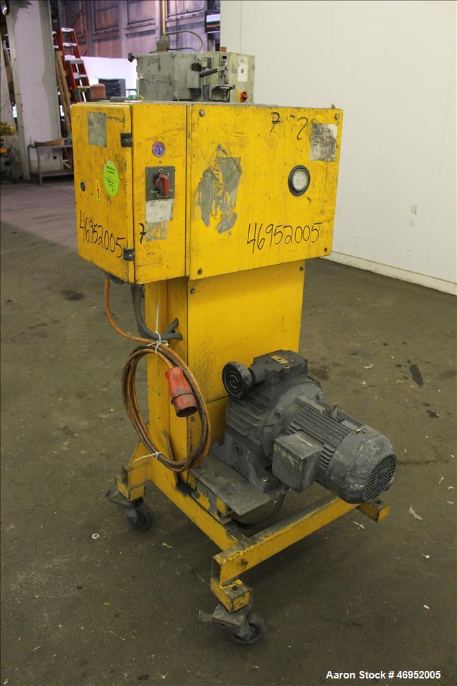 "Used- Scheer Pelletizer, Model SGS 100-E. 100mm (3.93"") Wide x 200mm (7.87"") diameter (32) fixed blade rotor. (1) Metal pull..."