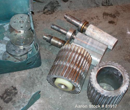 "USED: C. F. Scheer pelletizer, model SGS200-EV. Approximate 7-3/4"" diameter x 8"" wide 32 blade helical rotor. (1) rubber, (1..."