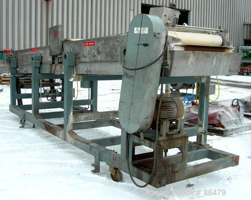 "Used- S. F. Scheer Strand Pelletizer, Model SGS600. 24"" wide x approximately 8"" diameter fixed knife rotor. (1) Rubber, (1) ..."