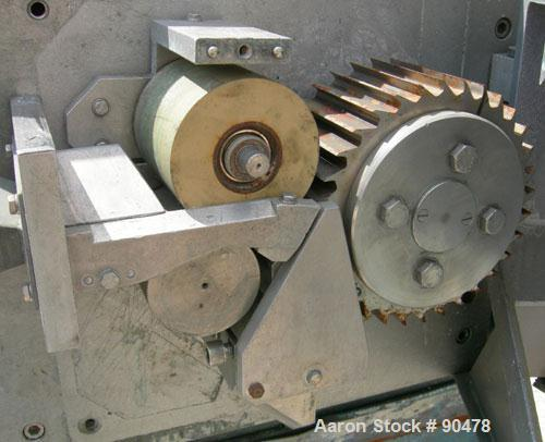 """Used- C.F. Scheer Strand Pelletizer, Model SGS 100-EL. Approximately 8"""" diameter x 4"""" wide 32 blade helical rotor. (1) Rubbe..."""