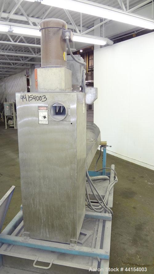 Used- Beringer Model WRP12V Underwater Pelletizer System Consisting Of: (1) Pelletizing head with 4 blades, driven by a 2hp,...