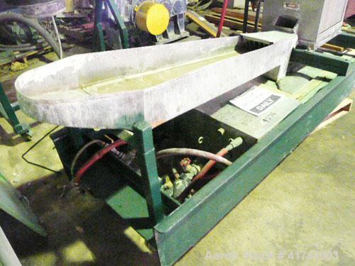 Used-Beringer Model WRP12V Water Ring Pelletizing System.  System includes operator control panel, AC motor with inverter dr...