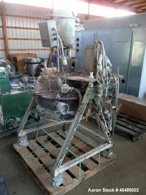 Used- Beringer Water Ring Pelletizing System. Consisting of: (1) Model WRP36 pelletizing head with 7.5hp AC motor with inver...