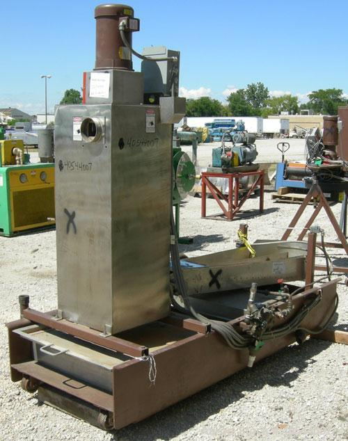 Used- Beringer model WRP12V underwater pelletizer system consisting of: (1) Pelletizing head with 4 blades, driven by a 2 hp...