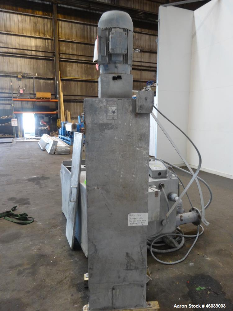 Used- Beringer Underwater Pelletizer system consisting of: (1) Pelletizing head, no blades, driven by a 7.5hp, 3/60/208-230/...