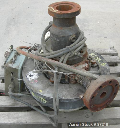 USED: Beringer water ring pelletizer cutting head. Requires motor.