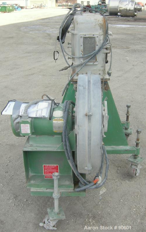 USED: Cincinnati hot face pelletizer. Last used with a twin screw extruder. Approximate 2 hp pelletizer motor, no rotor or b...
