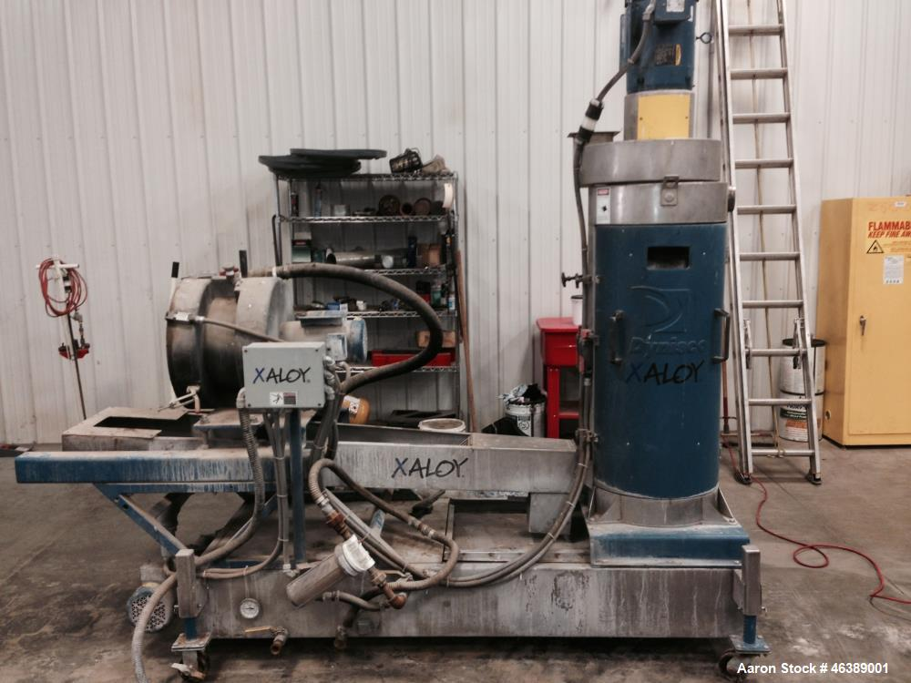 Used- Xaloy Water Ring Pelletizer, Model WRP-12. Includes: Die face cutter, water ring adapter, dewatering system. Approxima...