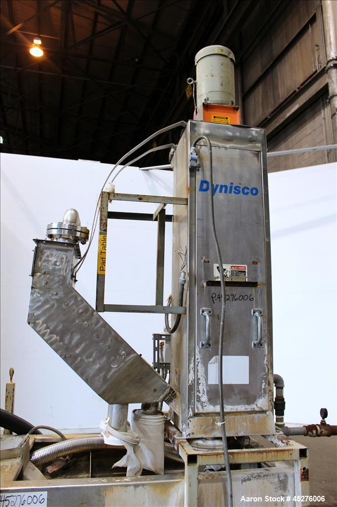 Used- Dynisco Underwater Pelletizing System, Model WRP 35S W/TD15.