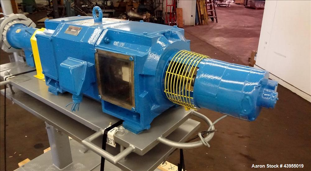 Used- Gala Underwater Pelletizer, Model 6D MUP, Includes (24) hole die, Serial# 880224. Driven by a 5hp DC motor, mounted on...