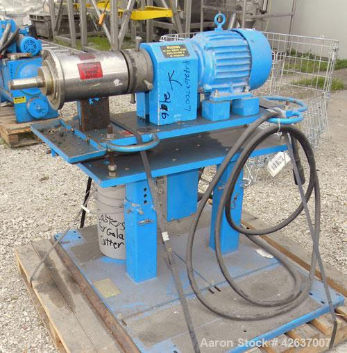 Used- Gala Underwater Pelletizing System Consisting Of: (1) Gala cutting head, model 6D, mounted on a stand, driven by a 5hp...