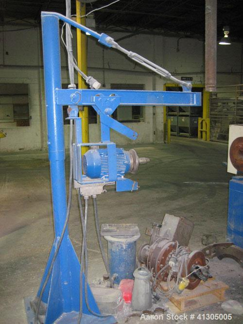 Used- Gala Underwater Pelletizing System consisting of: (1) Pedestal mounted cutting head (no blades), approximate 3 hp moto...