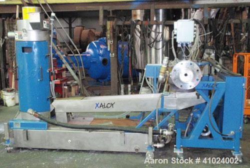 Used- Xaloy Water Ring Pelletizer, Model WRP-12I 12V. Consisting of: 2 hp, 230/460 volt die face cutter with VFD controller,...
