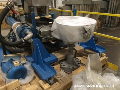 "Unused - 2013 Nordson Xaloy Water Ring Pelletizing System, Model WRP35S.  4 head cutter, die plate with 3 rows of 120 .093"" ..."