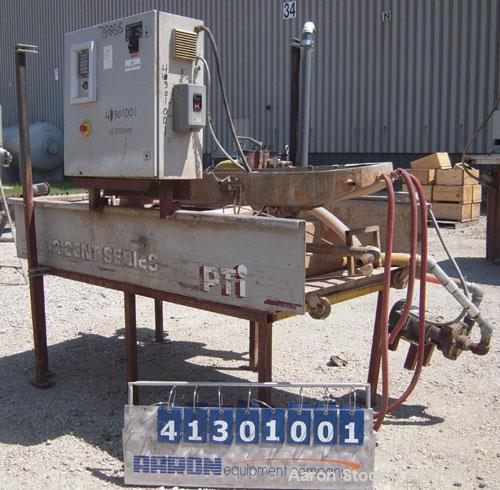 Used- PTI Underwater Stainless Steel Waterslide, Model CPF 3000.Includes a control panel with a Baldor display.Mounted on a ...