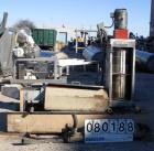 USED: Beringer water ring pelletizer, model WRP-12V. 2 hp pelletizinghead, water trough and 3 hp spin dryer.