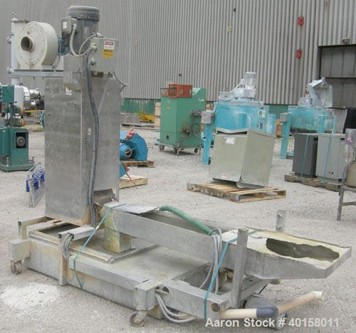 Used- Beringer water ring pelletizer, model WRP12V. (1) cutting head driven by a 2 hp motor, no blade; (1) 3 hp spin dryer; ...
