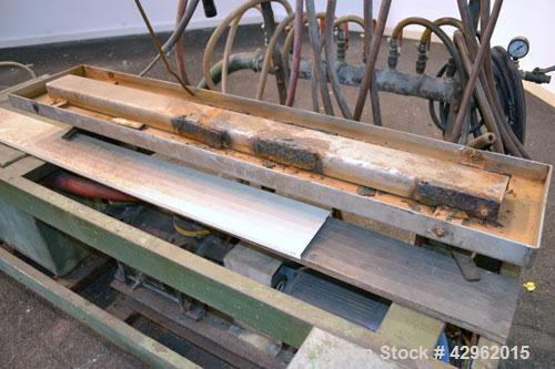 """Used- Vacuum Calibration Table Consisting Of: (1) 11-1/2"""" Wide x 59-5/8"""" long  x 1-3/4"""" deep vacuum table section; (1) stain..."""