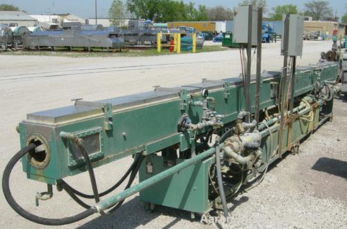 "Used- RDN Vacuum Sizing Tank, Model 4D3V2T30, 304 stainless steel. 12"" wide x 12"" deep x 30' long. (5) sections with covers...."
