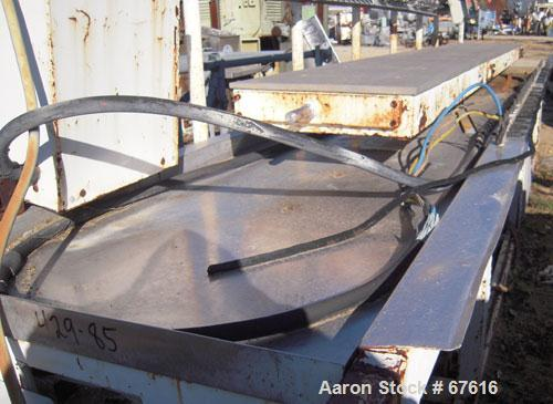 """Used- Actual Profile Tool Calibration Table, Model AKT-435. Table measures 21"""" wide x 14' long. Trough measures 33"""" wide x 1..."""