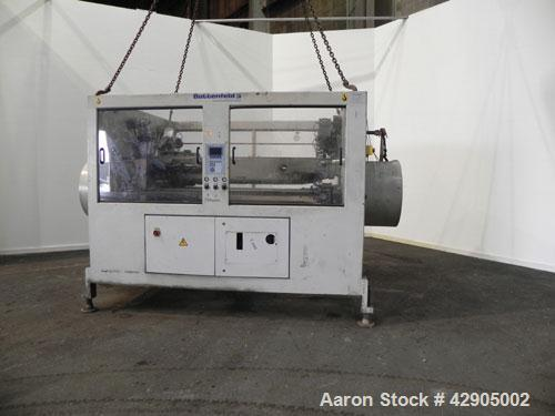 Used- Battenfeld 24'' Maximum Diameter PVC Pipe Extrusion Line. Consisting of: (1) Battenfeld 168 mm counter-rotating twin s...