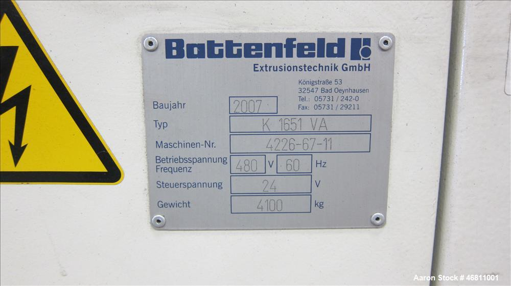 "Used- Battenfeld / American Maplan 63"" (1600 mm) Diameter Pipe Line."