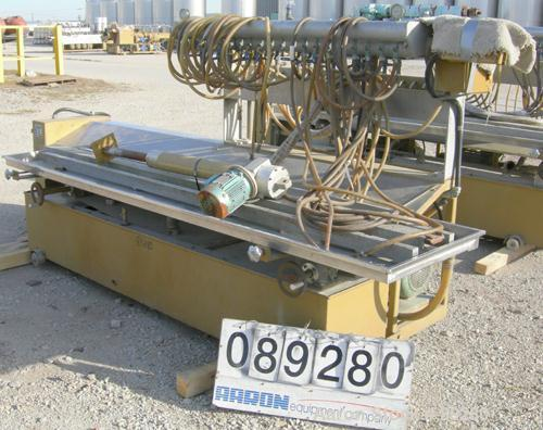 "Used- Becz Machine Vacuum Calibration Table, model 004, consisting of: (1) 26"" wide x 118"" long x 2"" deep 304 stainless stee..."