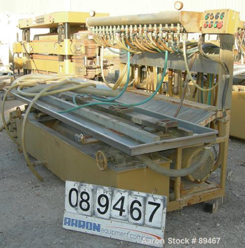 """USED: Becz Machine vacuum calibration table, model 004, consisting of: (1) 26"""" wide x 118"""" long x 2"""" deep stainless steel pa..."""