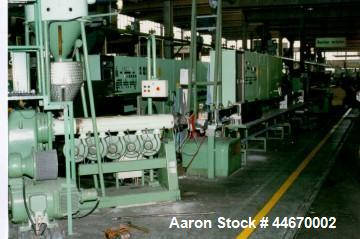 Used-Berstorff 90/2-E Core Insulation Line for production of HDPE tubes