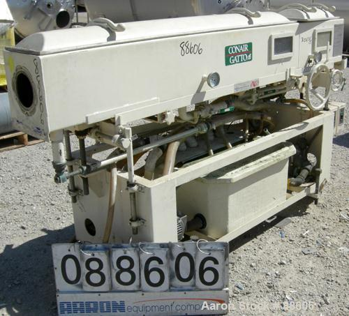"USED: Conair/Gatto vacuum sizing tank, model DPC-105C-8-2, 304 stainless steel, 12"" wide x 12"" deep x 8' long. (2) Section w..."