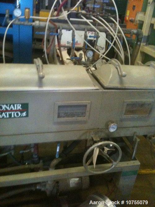 Used-Conair Jetro/Gatto Model DPC1070-14-3 Vacuum Sizer Tank. Right to left operation. 230/3/60, 9.75 maximum amps, 2 hp wat...